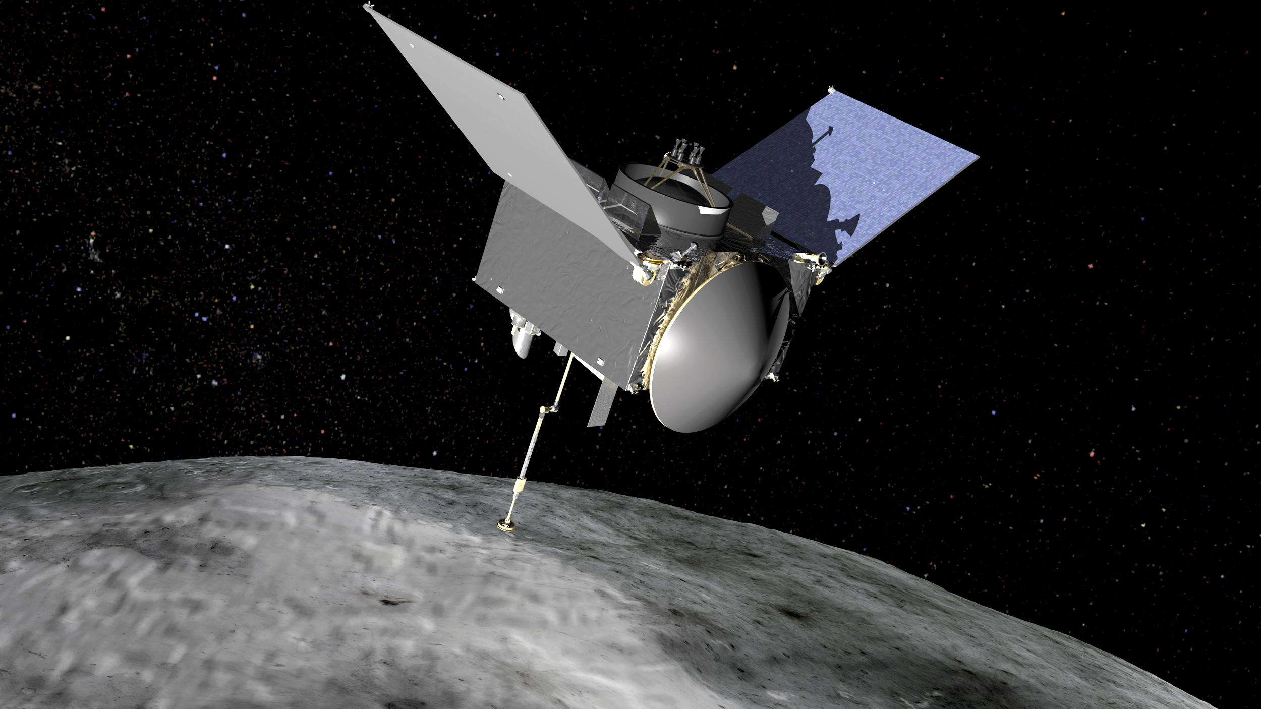 OSIRIS-REx will travel to near-Earth asteroid Bennu on a sample return mission. Credits: NASA