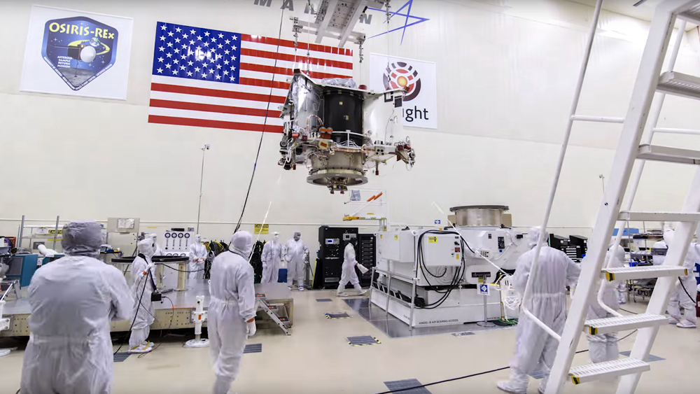 OSIRIS-REx Moves to its Rotation Fixture