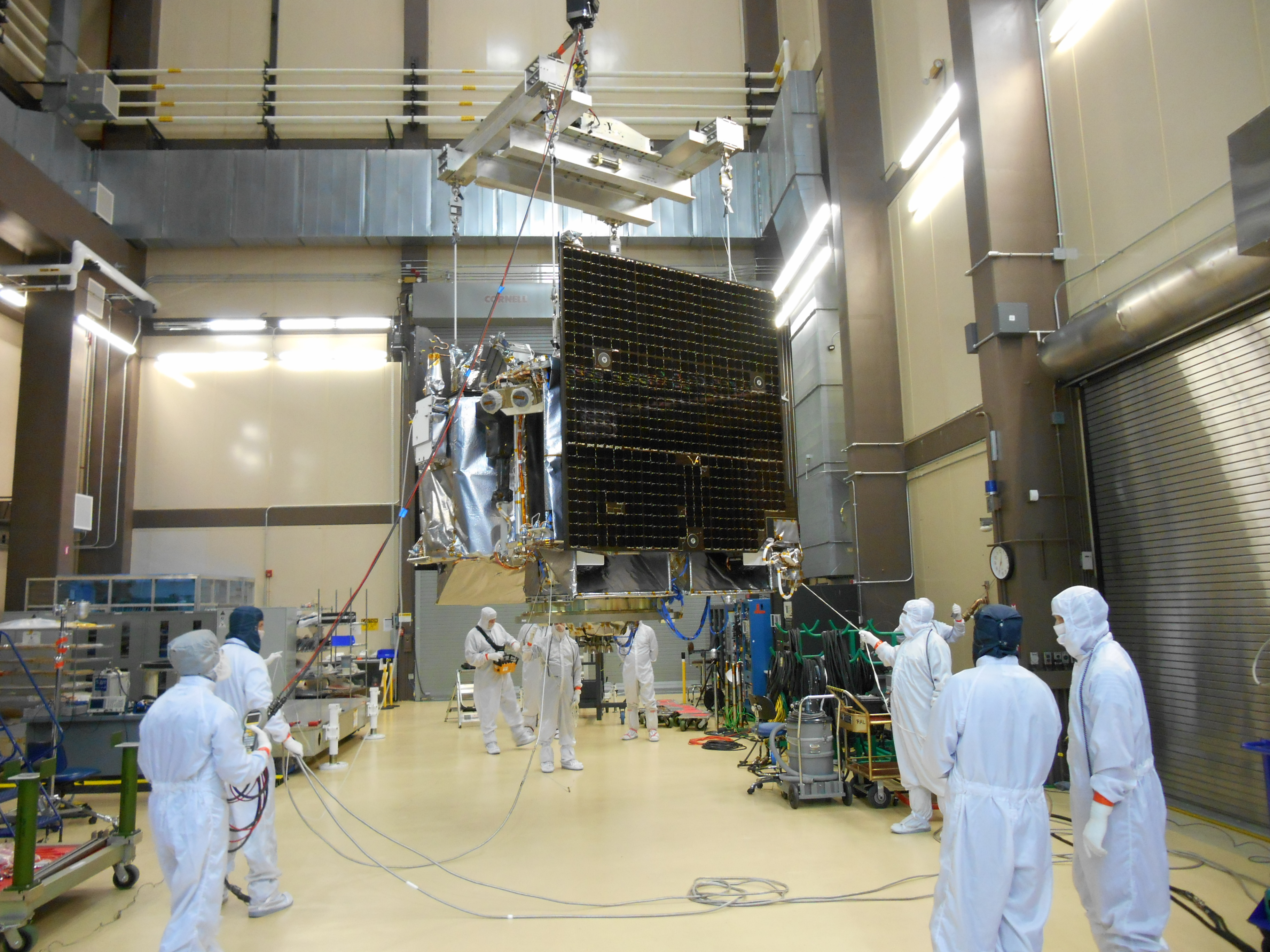 Spacecraft Being Moved for Testing