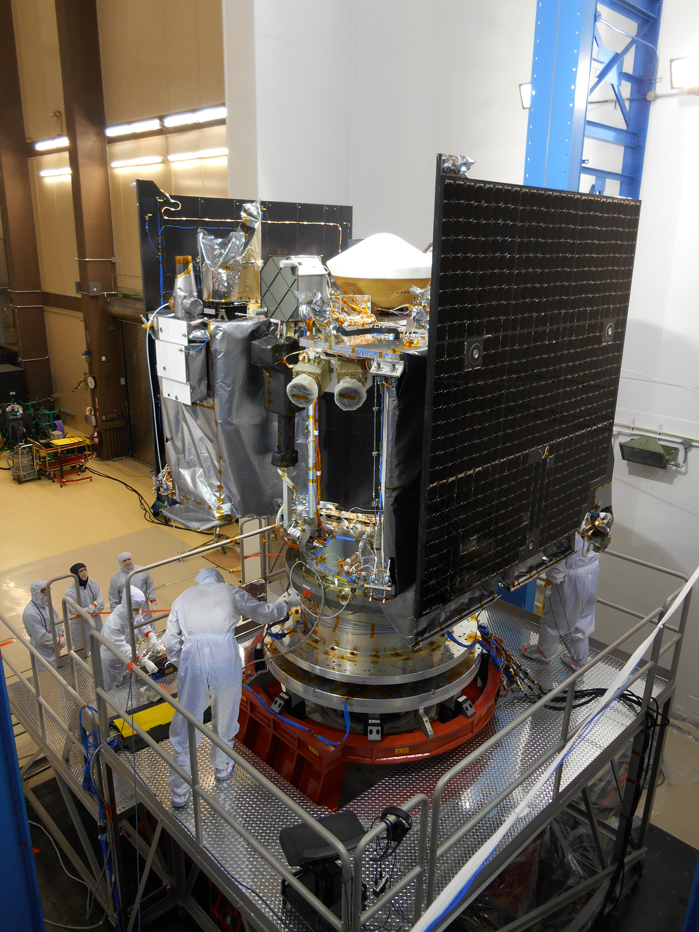 Spacecraft in Place for Testing