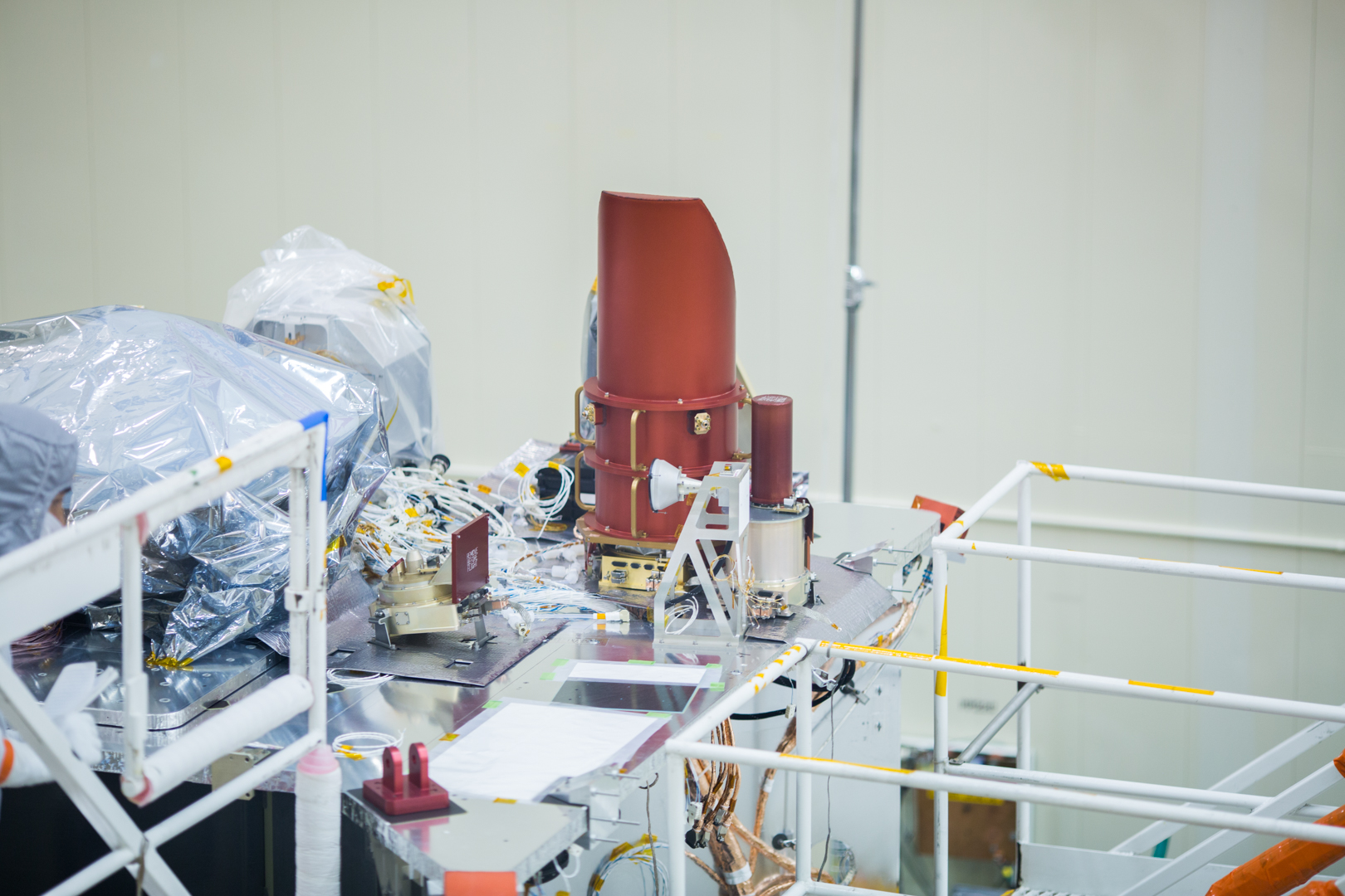 OCAMS Installed on Spacecraft