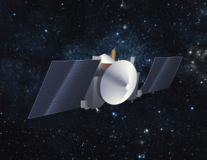 Artist's conception of the OSIRIS-REx spacecraft in cruise configuration. Credit: University of Arizona/Heather Roper
