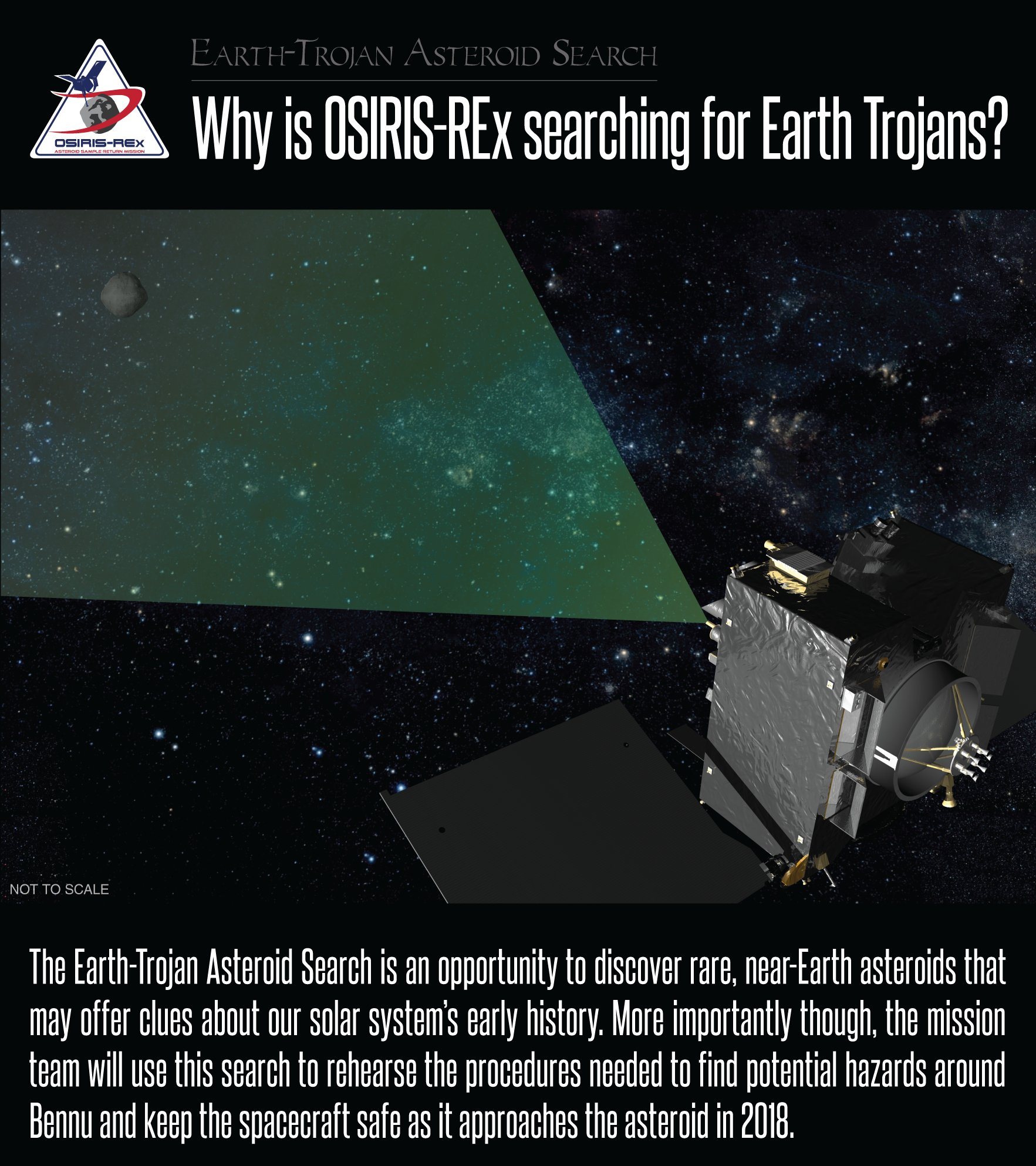 Why is OSIRIS-REx searching for Earth Trojans?