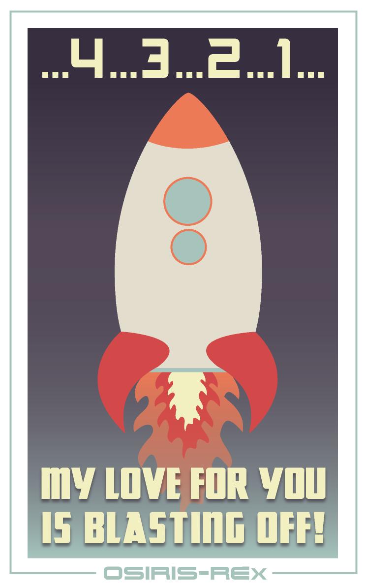 Blastoff Valentine from OSIRIS-REx