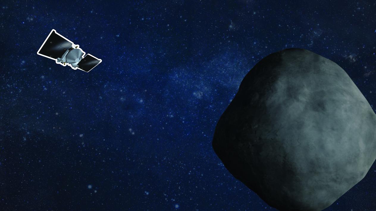 OSIRIS-REx spacecraft arriving at asteroid Bennu